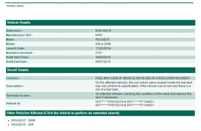 recall - peugeot 208 forums - page 1
